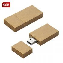 MEMORIAS USB PROMOCIONALES CARTON RECTANGULAR 4 GB